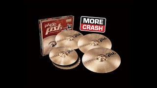 """ONE CRASH NOT ENOUGH FOR YOU?Then our PST Bonus Crash Promotion is the answer. Until mid 2017 we're offering special deals at participating retailers, where our extended PST set configurations are reduced by the price of a 16"""" Crash.• Exceptional Sound & Function• First Class Workmanship• Superior Price-Value Relationship• Unmatched QualityThat's because PST cymbals are designed by our Swiss Sound Development, using the know-how that creates our top class instruments. And PST 7 & PST 8 are refined by our Swiss production team with traditional hand craftsmanship.For details and all the rules visit www.paiste.com/bonuscrash*********************************************************************AVAILABLE BONUS CRASH SETSPST 8 UNIVERSAL SET14"""" Medium Hats / 18"""" Medium Crash / 20"""" Medium Ride + BONUS 16"""" Medium Crash(#180US16)PST 8 ROCK SET14"""" Rock Hats / 18"""" Rock Crash / 20"""" Rock Ride + BONUS 16"""" Rock Crash(#180RS16)PST 7 UNIVERSAL SET14"""" Hi-Hat / 18"""" Crash / 20"""" Ride + BONUS 16"""" Crash(#170US16)PST 7 SESSION SET14"""" Light Hi-Hat / 18"""" Thin Crash / 20"""" Light Ride + BONUS 16"""" Thin Crash(#170SS16)PST 7 ROCK SET14"""" Heavy Hi-Hat / 18"""" Heavy Crash / 20"""" Heavy Ride + BONUS 16"""" Heavy Crash(#170RS16)PST 5 UNIVERSAL SET14"""" Medium Hats / 18"""" Medium Crash / 20"""" Medium Ride + BONUS 16"""" Medium Crash(#068US16)PST 5 ROCK SET14"""" Sound Edge Hats / 18"""" Rock Crash / 20"""" Rock Ride + BONUS 16"""" Rock Crash(#068RS16)*********************************************************************SPECIAL THANKS to Paiste Artist Bartek """"Szopix"""" Czerniachowski & our friends from GEWA Drums (www.gewamusic.com)."""
