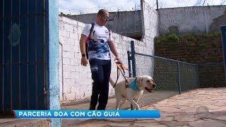 Cão-guia ajuda deficiente visual de Itu na conquista por medalhas