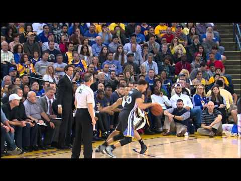 Video: Stephen Curry Drops Amazing Falling Circus Flip Shot