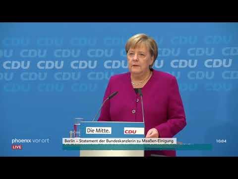 Bundeskanzlerin Angela Merkel zur Maaßen-Einigung am  ...