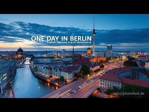 berlin - One Day in Berlin. Motion Timelapse. A short Timelapse Film by photohod.de vimeo: https://vimeo.com/79284404 Music: The Glitch Mob - We Can Make The World St...