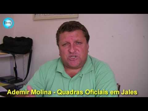 Jales - Ademir Molina esclarece críticas e polêmicas sobre as quadras oficias em Jales.