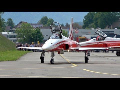 Patrouille Suisse flying 6 Northrop...