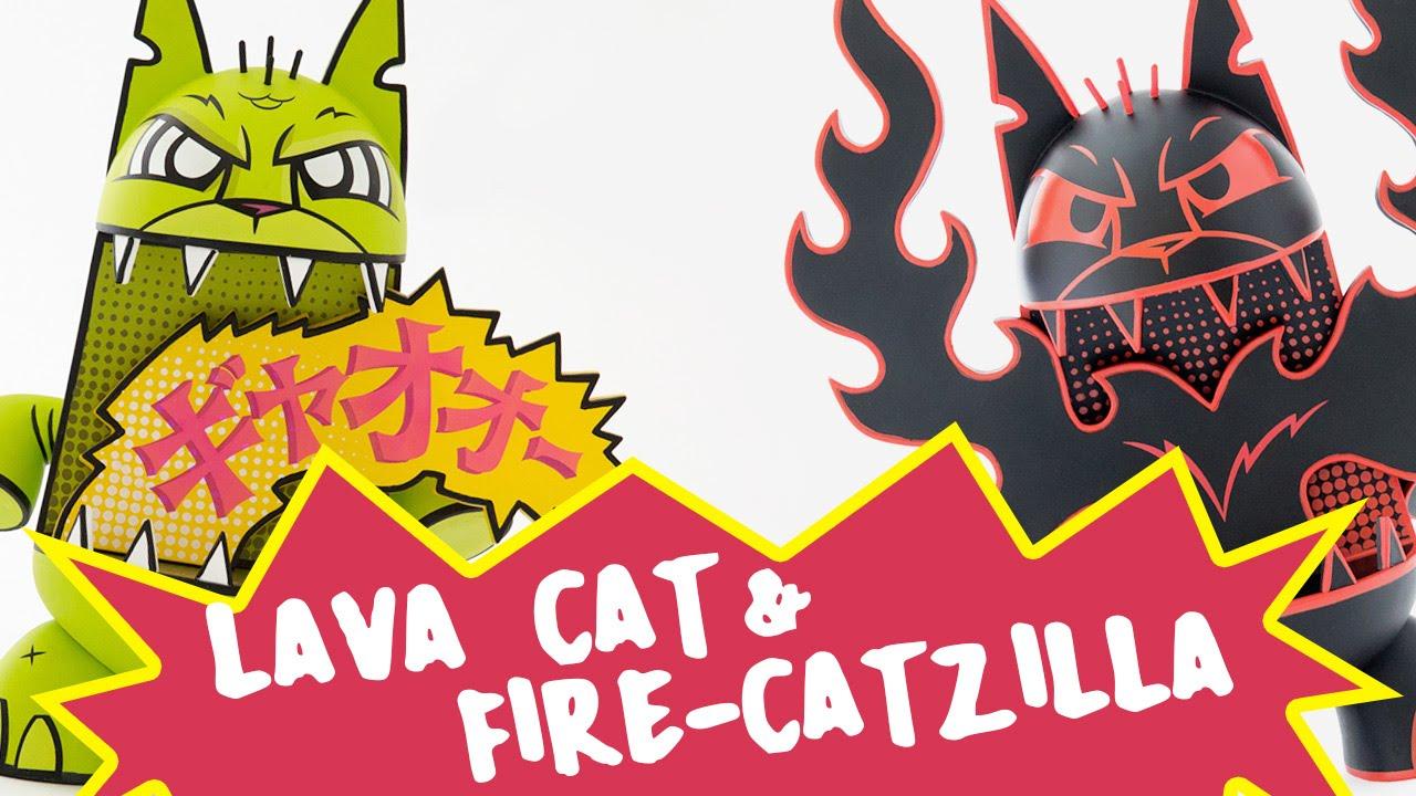 LAVA CAT & FIRE-CATZILLA!