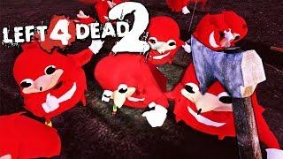 LEFT 4 KNUCKLES | Modded Left 4 Dead 2 (UGANDAN KNUCKLES ZOMBIES)