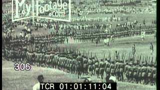 Stock Footage - AFRICA. ETHIOPIAN MILITARY SHOW. TROOPS MARCH