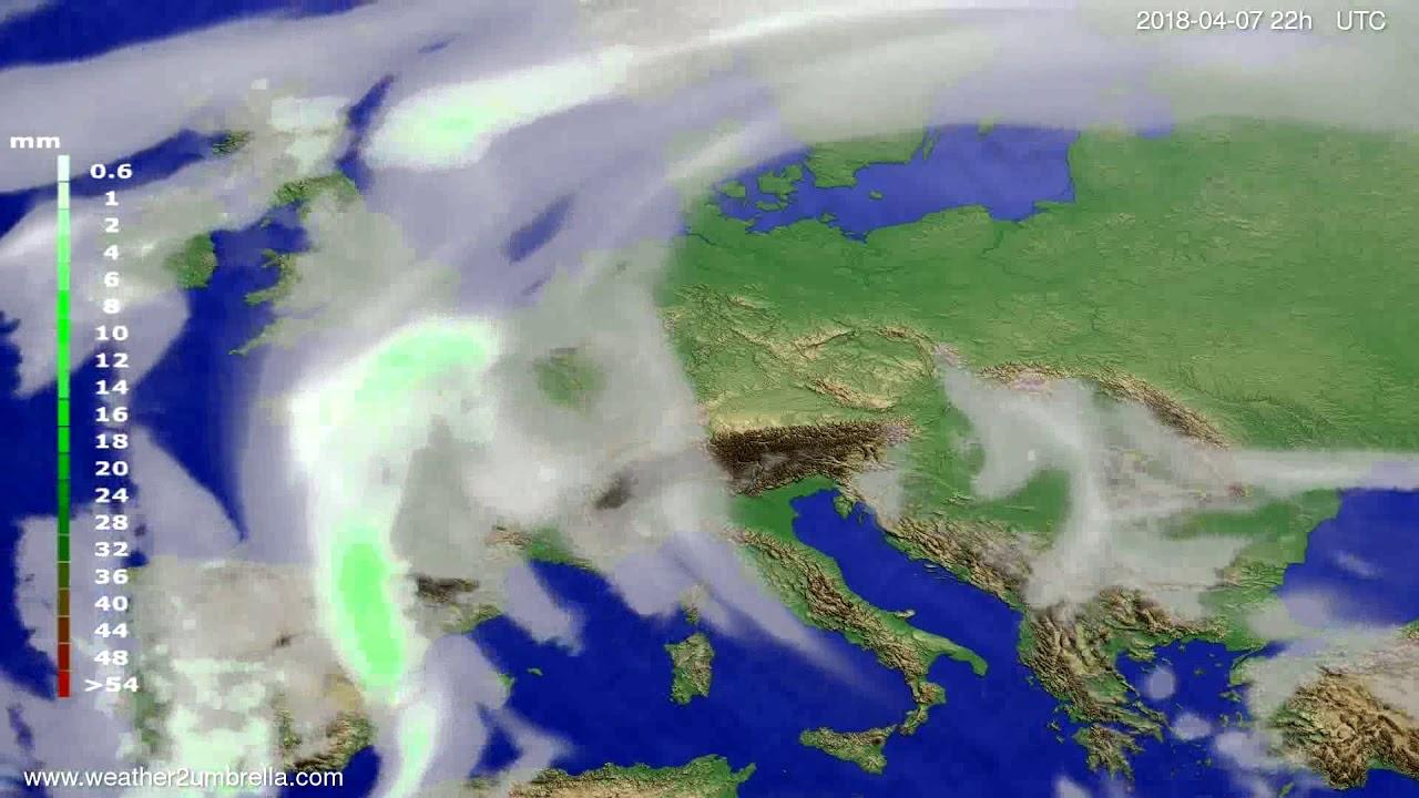 Precipitation forecast Europe 2018-04-05