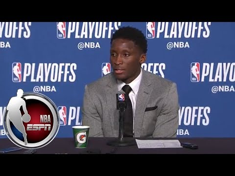 [FULL] Victor Oladipo on Game 1 win over Cavs: 'We've been playing like this all year' | NBA on ESPN
