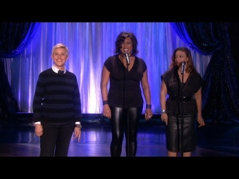 Singers - Life is better with backup singers. Ellen proved this point in her monologue.