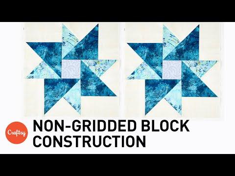 costruzione di un blocco in patchwork