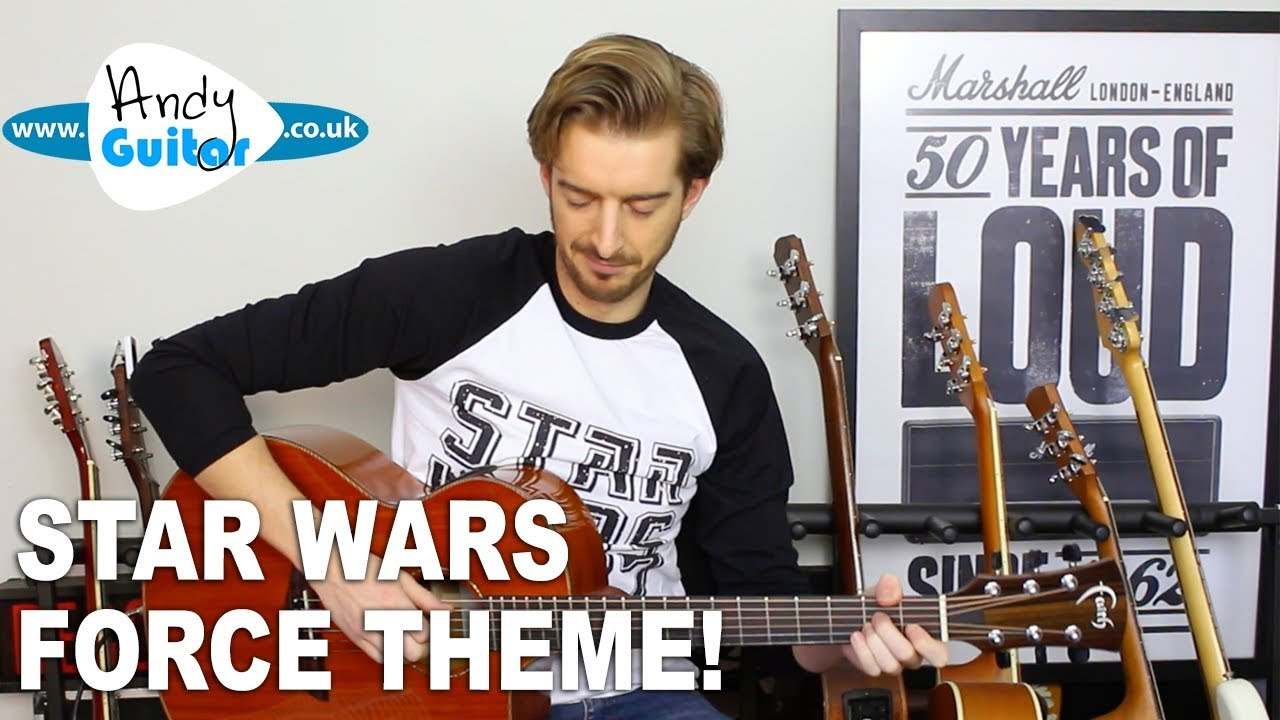 Star Wars Force Theme Guitar Tutorial – EASY Beginner Fingerstyle
