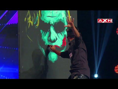 Video Asia's Got Talent Vilas Nayak Joker Painting download in MP3, 3GP, MP4, WEBM, AVI, FLV January 2017