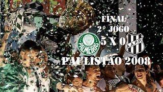 Palmeiras Campeão do Campeonato Paulista 2008 Palmeiras 5 x 0 Ponte PretaDia: 04/05/2008 Escalações Palmeiras Marcos↓ A Diego Cavalieri↑ Élder ...