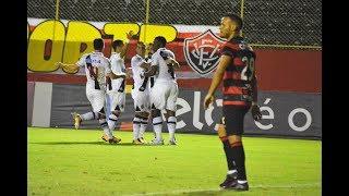 No Barradão, Vitória é goleado pelo Vasco e se complica no Campeonato Brasileiro.Gols: Kanu (VIT); Kanu (contra), Thalles, Paulo Vitor e Guilherme.