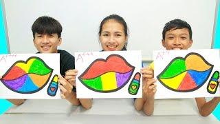 Mainan lipstik berkilauan, Warna Warni Belajar Menggambar dan Mewarnai untuk Anak