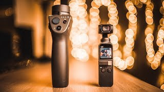 DJI OSMO POCKET VS DJI OSMO MOBILE 2 Night and day footage, stabilization, features, microphone test