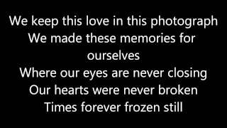 Ed Sheeran ~ Photograph Lyrics Video