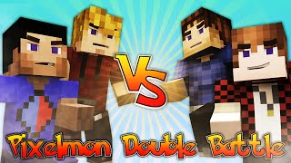 Minecraft Pixelmon LUCKY DIP DOUBLE BATTLE with Vikkstar, BajanCanadian, Woofless&CraftBattleDuty