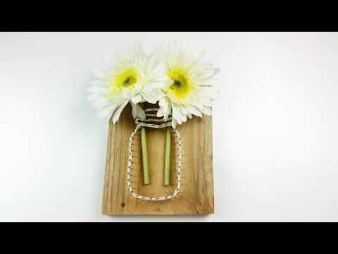 vaso di fiori con la string art - tutorial per costruirlo