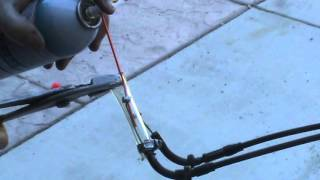 7. How to lube your motorcycle throttle and clutch cable the cheap way!  No special