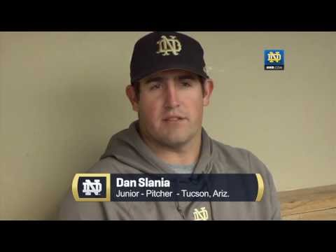 notre - Junior pitcher Dan Slania (Tucson, Ariz.) talks about how he became the closer for the Fighting Irish baseball team and how he has developed into that role.