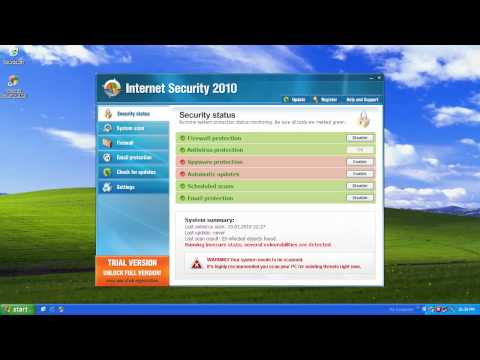 0 Internet Security 2010 Analysis and Removal