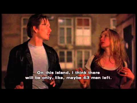 """Before Sunrise (clip14) - """"Fooling around is not so bad"""" and an origin of feminism"""