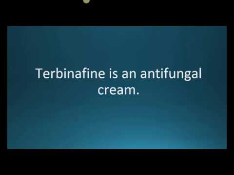 How to pronounce terbinafine (Lamisil) (Memorizing Pharmacology Flashcard)