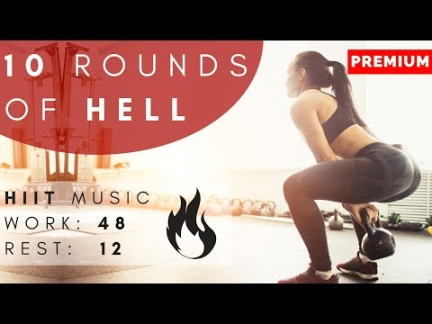 Ten Rounds of Hell   HIIT 48/12  Fat Burner Workout  HIIT at Home