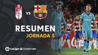 Video Highlights Granada CF vs FC Barcelona (2-0) MP3, 3GP, MP4, WEBM, AVI, FLV September 2019