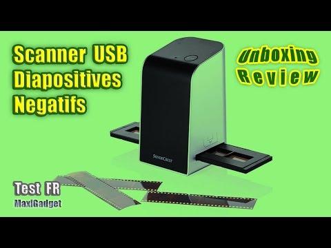 Test Déballage Scanner USB Diapositives et Négatifs
