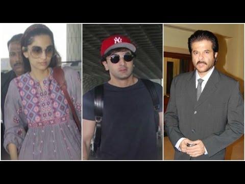 Ranbir-Sonam Look Stylish At The Airport | Anil Ka