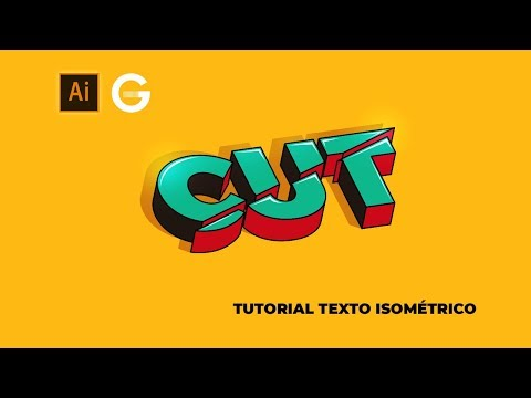 Illustrator Tutorial | Texto 3D Isométrico | 3D Isometric Text