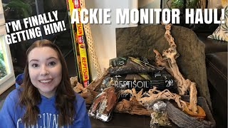 Everything I Bought For My Ackie Monitor! | I'm Finally Getting Him! by Emma Lynne Sampson
