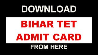 "आ गया BIHAR TET Admit Card  यहाँ से करे Downloadhttps://www.bsebonline.net/StudentLogin.aspxHow to Know Your Bihar TET Login Password  Easy Way  Download Bihar TET Admit Card https://www.youtube.com/watch?v=GYKWimErx64Bihar TET Admit Card 2017 has been released on 16th July 2017. In order to download admit card of Bihar TET 2017 candidate must have login credentials. Download and print BETET Admit Card 2017 for the purpose of getting entry in exam hall. After exam you can check answer key of BETET 2017.Date of availability of Bihar TET Admit Card 2017 is 16 July 2017. Bihar School Examination Board is responsible for issue of hall tickets and conduct of Bihar Teacher Eligibility Test.The Bihar TET Admit Card can be downloaded from the official website at www.biharboard.ac.in. The candidates are required to carry the Bihar TET Admit Card on the exam day along with a valid photo identity proof. Any student arriving without the Bihar TET 2017 Admit Card will not be permitted to sit for the exam.Bihar TET 2017 will now be conducted on 23 Jul 2017. Admit Card for the same has been released on 16 Jul 2017!To download – Click hereThe students can also download their Bihar TET Admit card 2017 from this page as well. We have provided a link now that the Bihar TET Admit cards are available online. The students can also check the steps to download the Bihar TET admit card and what to do with the Bihar TET admit card.The candidates who have filled in the complete details regarding their personal details and exam for which they want to appear, have been issued the Bihar TET 2017 Admit Card on the official website at www.biharboard.ac.in. The candidates are advised to check the information printed on the Bihar TET admit card and inform the organization in case there is any error in the printing. The students must preserve the document carefully as it will be used during the entire recruitment process.Official website to download Bihar TET Admit Card 2017 www.biharboard.ac.in  www.bsebonline.netExam Time Table (Notified here)Date of Exam & Day: 23 July 2017 (Sunday)Paper I (Class I-V): 10:00 am to 12:30 pmPaper II (Class VI-VIII): 02:00 pm to 4:30 pmImportant (List of Candidates as on 29.06.2017)List of Unpaid Candidates of BETET 2017List of Candidates whose Remaining Amount is still pendingList of Candidates who have not Uploaded PhotographList of Candidates who have not Uploaded SignatureList of Candidates who have not filled Qualification detailsList of Candidates who have not filled Teacher Training details for Paper – 1List of Candidates who have not filled Teacher Training details for Paper – 2List of Candidates who have not Uploaded Authorization LetterList of Candidates who have Uploaded Invalid PhotoList of Candidates who have Uploaded Invalid SignatureSteps to Download Bihar TET 2017 Admit CardVisit the official website at www.biharboard.ac.in.Go to heading ""Events and Notifications"".Here you will see link ""Admit Card for BETET 2017"".Enter the application number and passwordTake a print out of the admit card."