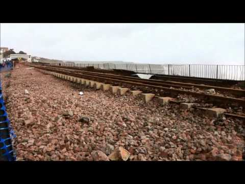 Dawlish Sea Wall before and after the storm 9th February ...