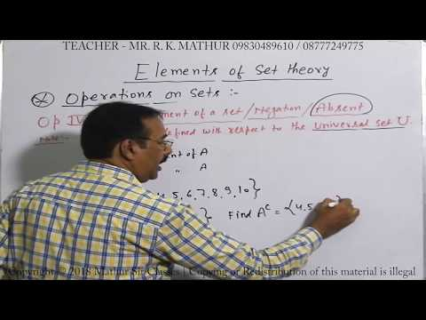 Introduction to Set Theory with Examples and formula | Mathematics  | Mathur Sir Classes