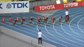 100m men heats heat 7 AAF World Championships Daegu 2011