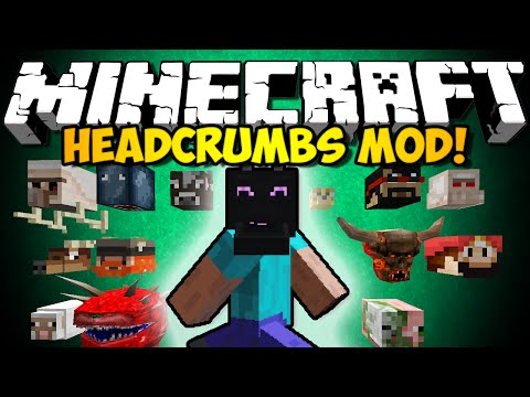 Minecraft Headcrumbs Mod: YOUTUBER HEADS & STATUES, EVERY MOB HEAD & MORE (HD)
