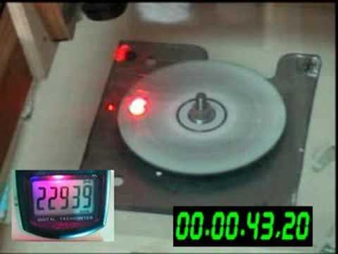 CD exploding 23.000 RPM