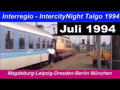 DB Juli 1994 Interregio / InterCityNight Talgo. Deutsche Bahn