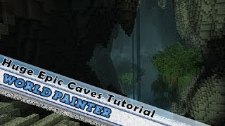 World Painter Tutorial: Huge Custom Caves & Custom Brushes!