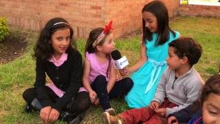 Los niños hablan de medio ambiente en Corpoboyacá