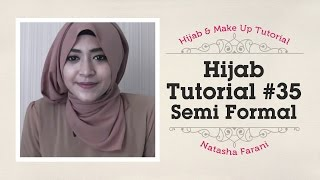 Hijab Tutorial - Natasha Farani Half Formal