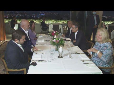 Δείπνο του Κ. Μητσοτάκη με τον Έ. Ράμα