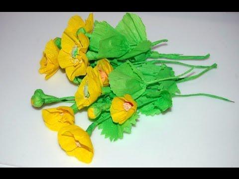 Paper crepe flowers. Kwiaty z bibuły  DIY