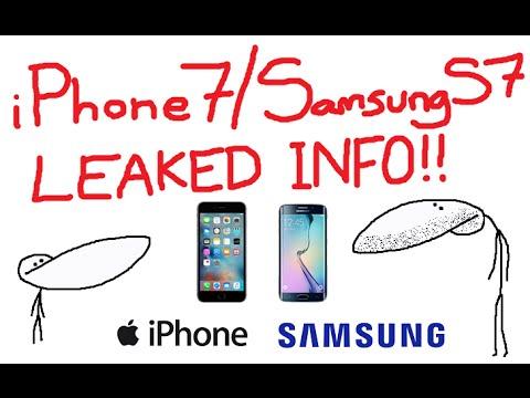 Uniklé informace o Samsungu S7 a iPhonu 7