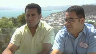 Famous brothers Kris and Jason Faafoi travel to Tokelau for the first time with their family.