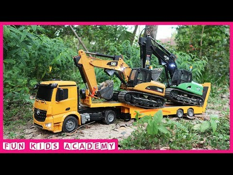 Video Bruder Toys | Excavator JCB & CAT, Tractor Trailer, Truck, Dump Truck | Trucks for Kids download in MP3, 3GP, MP4, WEBM, AVI, FLV January 2017