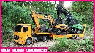 Bruder Toys | Excavator JCB & CAT, Tractor Trailer, Truck, Dump Truck | Trucks for Kids